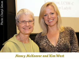 Nancy McKeever and Kim West at the Infancy Institute