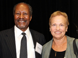 Dr. Hubert Dyasi with the Graduate School's Nancy Gropper