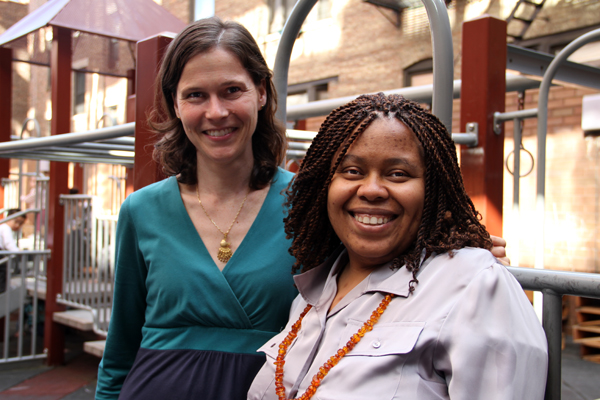 Faculty members and blog authors Pamela Jones and Valentine Burr