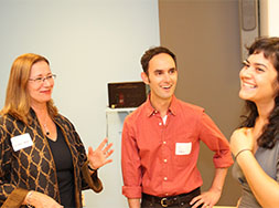 Bank Street alumni and DiMenna Children's Museum collaborators Jo Ann Secor, Dan Marwit, and Christina Ferwerda.