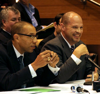 Chancellor Dennis Walcott and UFT President MIchael Mulgrew