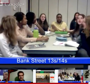 Bank Street students in Google Hangout