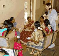 Bernadette Anand with pre-service teachers Alagappa University, Tamil Nadu