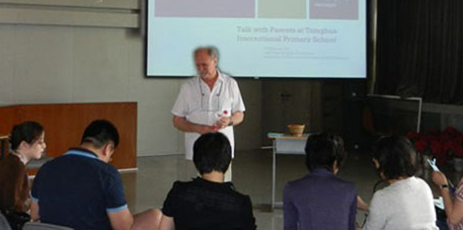 Hal Melnick teaches in China