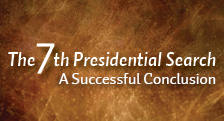 7th Presidential Search CONCLUDED