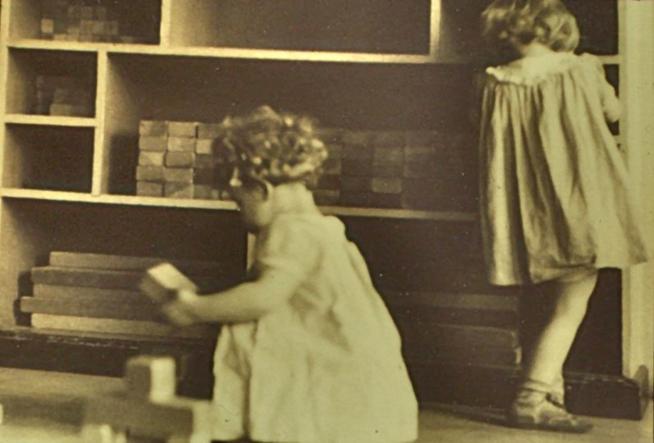 Archival photo from the Nursery School