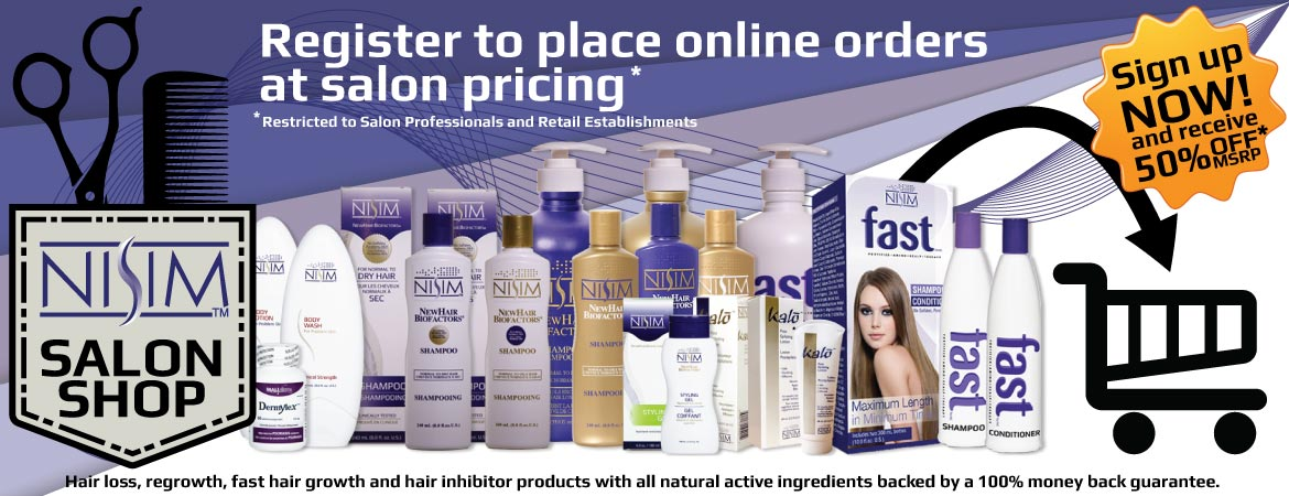 Register to place orders online at salon pricing