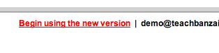 Begin using new version