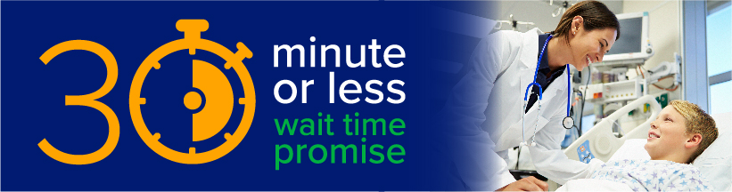 30 minute or less wait time promise