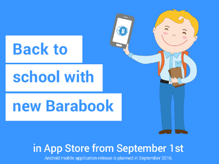 First day of school with new Barabook