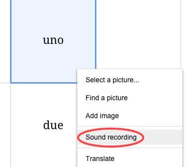 Sound menu items
