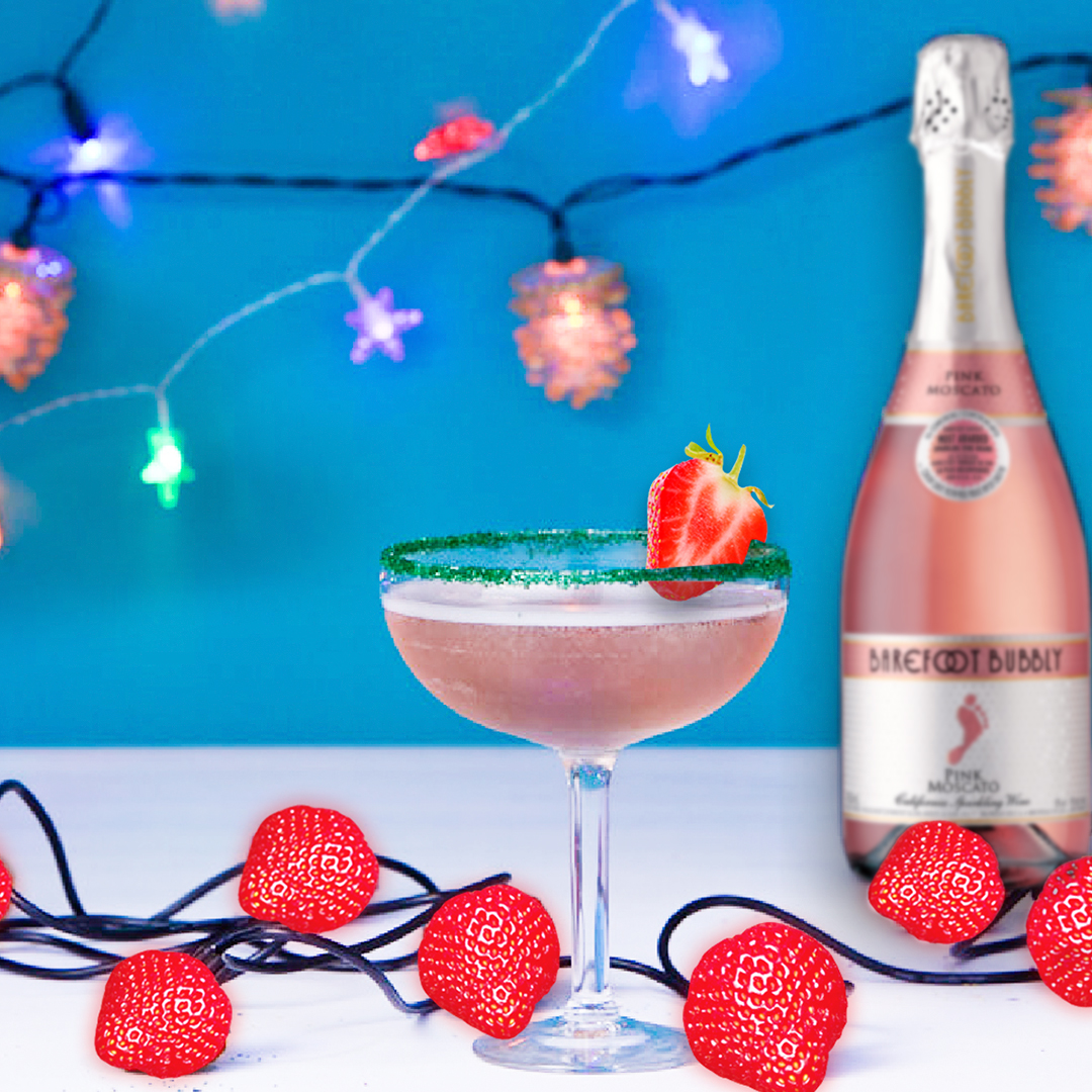 Bubbly Pink Punch Cocktail