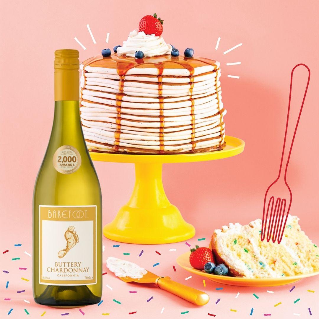 Buttery Chardonnay Confetti Cake