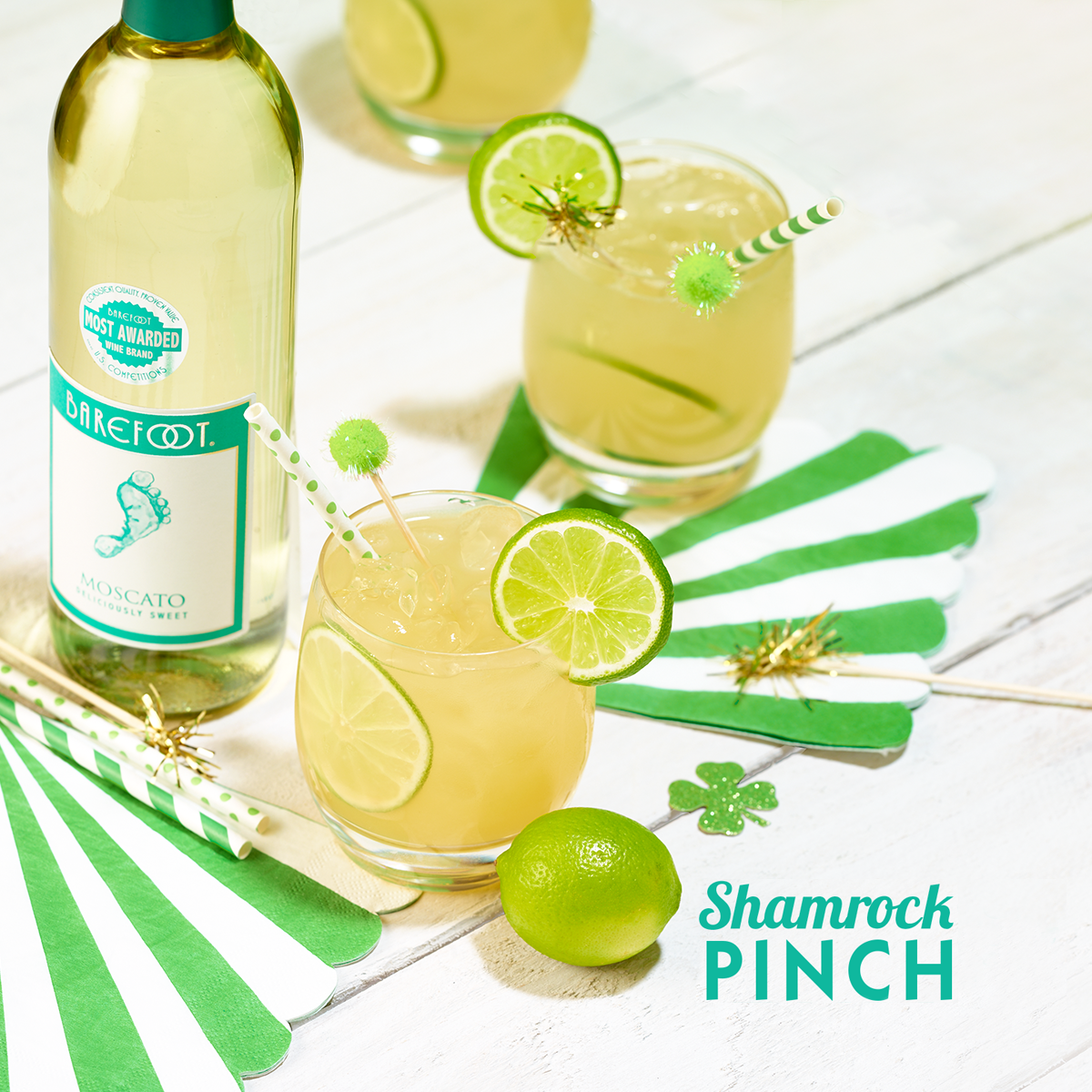 Shamrock Pinch with Barefoot Moscato