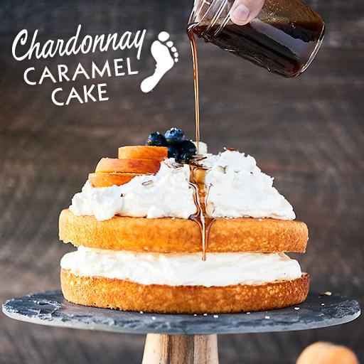Chardonnay Caramel Cake