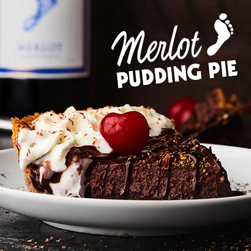 Merlot Chocolate Pudding Pie