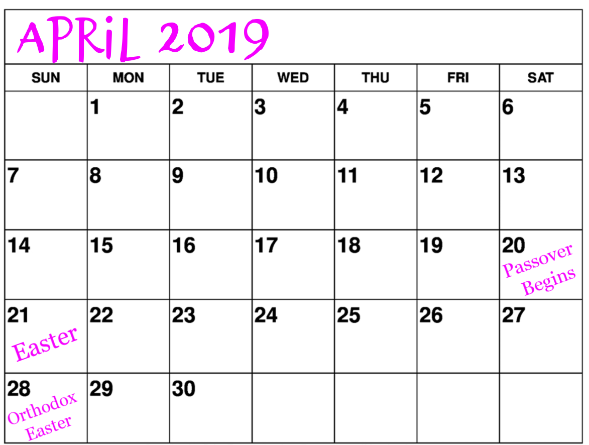 What to Do in April 2019