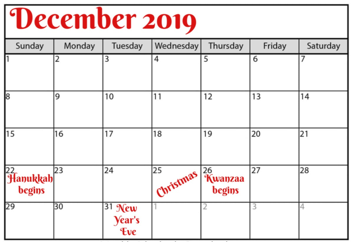 What to Do in December 2019 | Baristanet