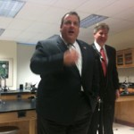 Gov. Christie, Student Protesters at Montclair High School