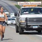 Jasmine Jordan Jogs For Truckers