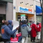 Union Rights Protestors Disrupt Business on Bloomfield Avenue