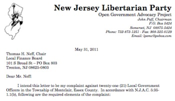 Nj libertarians file complaint against 21 montclair officials nj libertarians file complaint against 21 montclair officials baristanet expocarfo Gallery