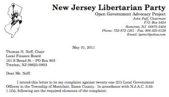 Nj Libertarians File Complaint Against 21 Montclair Officials