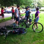 Bike Protestors Pedal to Hillside School