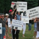 Bear Protestors Make a Peaceful Point