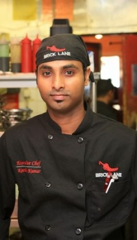 Karthik Kumar - chef/owner Brick Lane