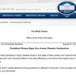 Obama Declares State Major Disaster, FEMA Money Allocated for NJ