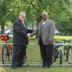 Montclair Councilor Africk Makes Good On a Promise: Hillside School's New Bike Rack