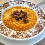 Sweet Potato Soup with Buttered Pecans