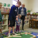 Golf in a Library?