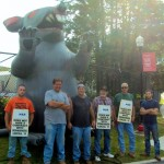 Iron Workers Bring A Rat To Protest At MSU