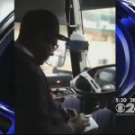 Decamp Driver Caught Doing Paperwork While Driving Bus