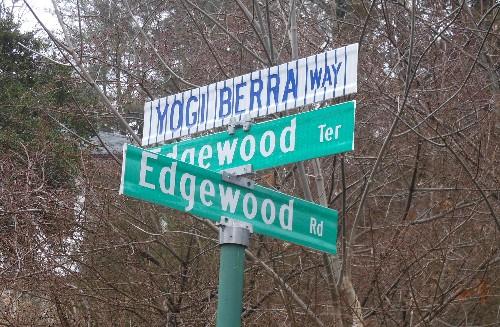 Yogi Berra Way sign