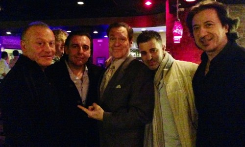 (from l. to r.) Anthony Pope, Robert Porporino. Joe Piscopo, Franco Porporino and Federico Castellucio.