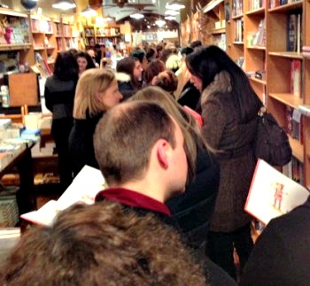By 9pm, the line still extended out the door to see Dame Julie Andrews.