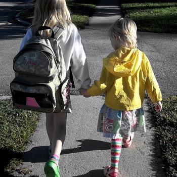 walking toschool alone