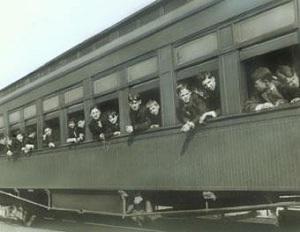 kids on train - window -sized