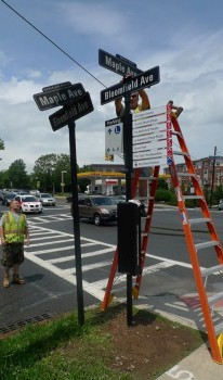 Signs of Change in Montclair Center