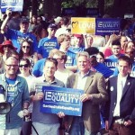 Booker, Pallone, Holt Join Montclair At Garden State Equality Walk, Rally For Marriage Equality