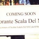 Ristorante Scala Del Nonna, By Way Of NYC's Scalini Fedeli, Coming To Montclair NJ