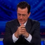 "Stephen Colbert Signs Off  On ""The Colbert Report"""