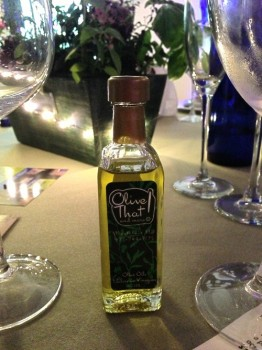 We liked: Olive oil from Olive That and More; Herb centerpieces from Matarazzo Farm