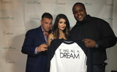 Fresco's Franco Porporino, Karma for a Cure's Margaux Minutolo and Jamal Woolard