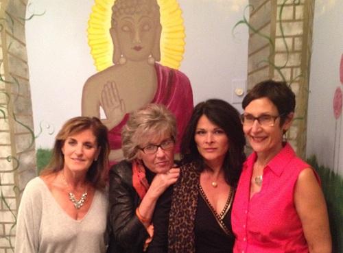 The Roller Girls (left to right): Jodi Badagliacca, Cris McMahon, Venera Gashi, Karen Goldberg