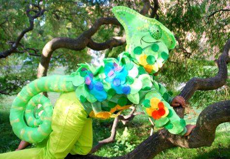 No-Sew Chameleon Costume