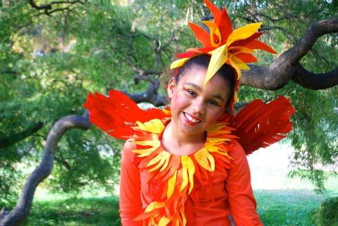 A No-Sew Phoenix Costume